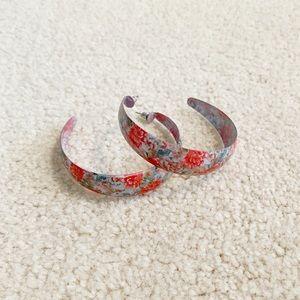 H&M Floral Hoop Earrings